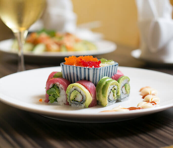 Christmas Roll, Sushi, The Woodlands