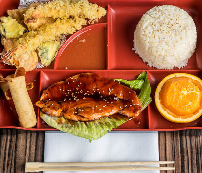 Salmon Teriyaki Bento Box, Best Restaurant, Montgomery